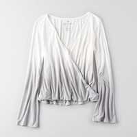 AEO Soft & Sexy Bell Wrap Shirt