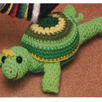 Crochet TOY Pattern Vintage 70s Crochet Turtle Pattern Amigurumi Pattern