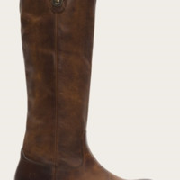 Frye Dark Brown Melissa Button Leather Boots
