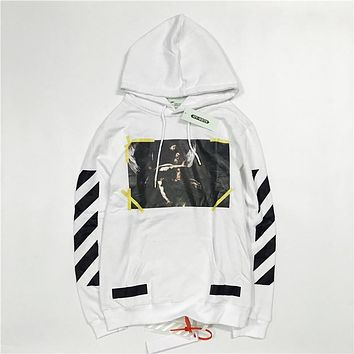 OFF-WHITETROND LIFE Our Lady of the Angels Printing Hoodie Sweater S-XL