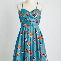 Critters Mid-length Sleeveless Fit & Flare Gallant Gusto Dress in Critters