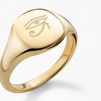 Small Engravable Pinky Ring in 18K Gold