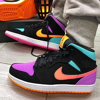 Nike Air Jordan 1 Mid-Top Candy Men's and Women's Sneakers Shoes