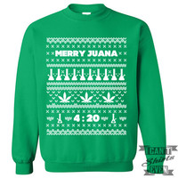 Merry Juana Ugly Christmas Sweater