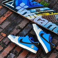 Instant Skateboards x Nike SB Dunk Low dog head embroidered sneakers shoes