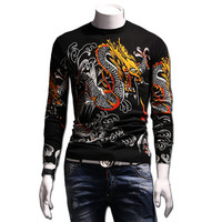 Model Wool Sweaters and Pullovers Menswear Hombre Men's Casual Slim Fit Long Sleeved O Neck Knitted Sweaters SM6