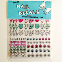 3 BAD KITTIES nail decals