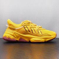 Adidas Ozweego ADIPRENE New fashion couple reflective shoes yellow