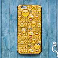 iPhone 4 4s 5 5s 5c 6 6s plus + iPod Touch 4th 5th 6th Gen Cute Smiley Face Emoji Collage Cover Funny Fun Yellow Phone Case Gift Idea Cool