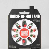 House Of Holland X Elegant Touch Thorn In My Side Faux Nail Set- Rose One
