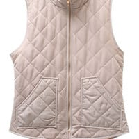 Out in the Wild Puffer Vest (Taupe)