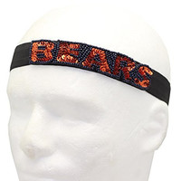 NFL Chicago Bears The Grace Collection Sequins and Beads Elastic Hairband, 9.5 x 2.5 x .13-Inch, Blue