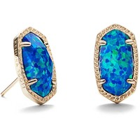Kendra Scott: Ellie Stud Earrings In Royal Blue Kyocera Opal