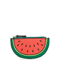 Red Watermelon Zip Top Purse