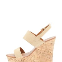 Faux Leather Wedges