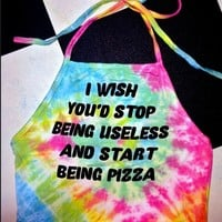 SWEET LORD O'MIGHTY! STOP BEING USELESS TIEDYE HALTER