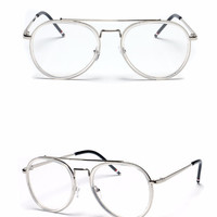 Clear Aviator Glasses - Clear