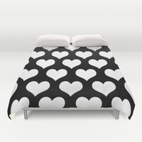 Love Black & White Duvet Cover by BeautifulHomes   Society6