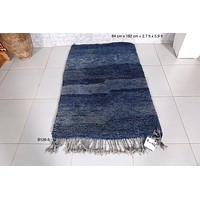 Blue Moroccan rug from berbers, 2.7ft x 5.9ft