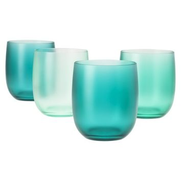 Evergreen Summer Acrylic Stemless Wine Glass Set of 4