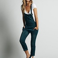 Free People Womens Washed Denim Overall