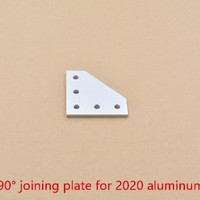5 holes 90 degree joint board plate corner angle bracket connection joint strip for 2020 aluminum profile 1pcs