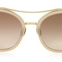 Bottega Veneta BV0064S Round Metal Frame Women's Sunglasses