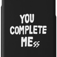 'You Complete Mess' iPhone Case/Skin by larim