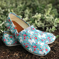 Bichon Frise Flower Casual Shoes