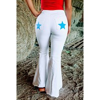Plymouth Rock Bell Bottoms: White/Blue