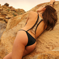Black Bone Swimsuit by Pacific & Driftwood