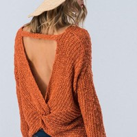 Twist Back Sweater - Fiesta