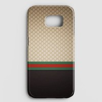 Gucci Designer Label Patterns Wall Samsung Galaxy S7 Edge Case
