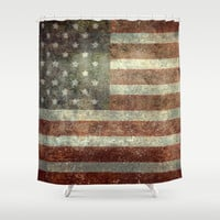 """""""Old Glory"""", The Star-Spangled Banner Shower Curtain by Bruce Stanfield"""
