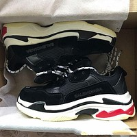 Balenciaga Classic Popular Women Men Personality Color Matching Sport Shoes Couple Sneaker Black I-ZY-6G6