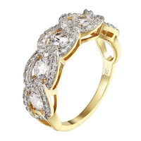 Round Brilliant Cut Engagement Wedding Solitaire Ring 14k Gold Over 925 Silver