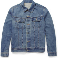 A.P.C. - Regular-Fit Washed-Denim Jacket | MR PORTER