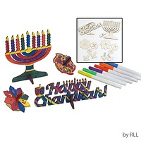 Dyo Chanukah Wood Craft Kit, Makes 4, Incl. Markers, Color Box