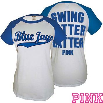 Toronto Blue Jays Victoria's Secret PINK® Short Sleeve Baseball Tee - MLB.com Shop