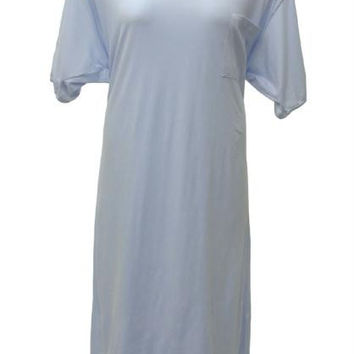 Cotton Nightgown Plus Size 6x - Light Blue