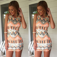 vestidos New Sexy Women Boho Sleeveless Sequined Short Mini Dress