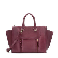 LEATHER CITY BAG WITH METAL DETAILING