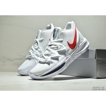 Nike Kyrie 5 new tide brand built-in air cushion sports basketball shoes white