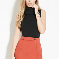 Button-Waist Mini Skirt | Forever 21 - 2000182248
