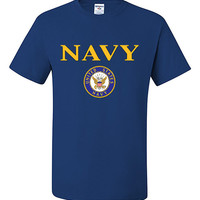 US NAVY T-Shirt Marine Shirt Support Our Troops United States Navy Veteran Military