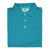 Striped Channel Marker Polo in Seaglass by Southern Tide