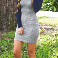 Knit Cotton Bodycon Dress
