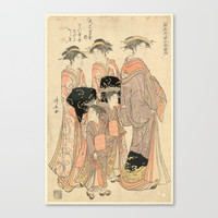 The Courtesans Maizumi Of The Daimonjiya Brothel Canvas Print by PureVintageLove