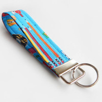 School Supplies Key Fob / Pencil Keychain / Erasers / Wrist Lanyard / Wristlet / Keychain Lanyard / Back to School / Key Chain