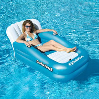Inflatable Oversized Swimming Pool Water Lounge Cooler Couch n Cup Holder